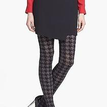 Dkny Molten/black Bold Houndstooth Tights Small - Msrp 25 Photo