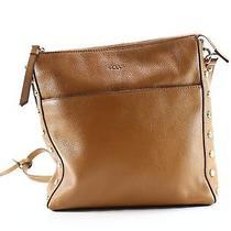 Dkny New Brown Gold Medium Crossbody Pebble Leather Handbag Purse 198- 140 Photo