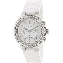 Dkny Ny2223 Women's Chambers White Ceramic Quartz Watch Photo