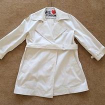 Dkny Off White Trench Coat Medium Photo
