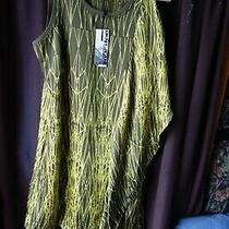 Dkny Olive and Yellow Dress With Side Drape L Detail Size O  Xs New  Photo