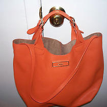Dkny Orange Saffiano Bucket Bag Photo