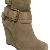 Dkny Parker Ankle Wedge Boot Suede Leather Size 8.5 Photo
