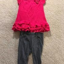 Dkny Pink Knit Long Sleeve Sweater Top & Matching Leggings 12 Month Baby Girl Photo