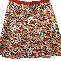 Dkny Printed Cotton Skirt 10 Photo