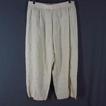 Dkny Pure Cropped Pants Off White Ramie Plus Sz 1  Photo
