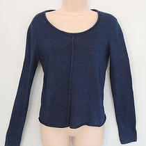 Dkny Pure S Navy Blue Rolled Neck Soft Pure Cotton Pull Over Sweater Photo