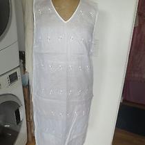 Dkny Pure Shift White Dress Size 4 Photo
