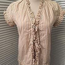Dkny Pure Top Blouse Stripe Size 2  Photo