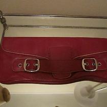 Dkny Purple Leather Clutch Photo