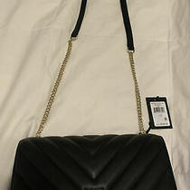 Dkny Quilted Black Purse Gold Chain Veronica Lg Shoulder Bag  Original 228 Nwt Photo