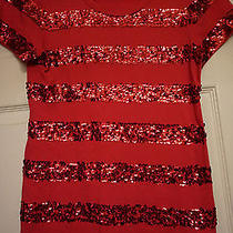 Dkny Sequin Stripe Top Photo