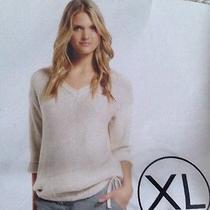 Dkny Sequin v-Neck Sweater Photo