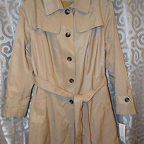 Dkny Single Breasted Trench Jacket Water Repellent Khaki Size 3x   Photo