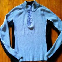Dkny Ski Sweater Gray Cotton Stretchy Beautiful Condition Medium Free Shipping Photo