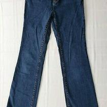 Dkny Soho Bootcut Jeans Dark Rinse Blue Denim 5-Pockets Boot Cut Size 2r Regular Photo
