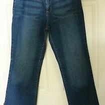 Dkny Soho Jeans Dark Wash Size 12 Straight Leg Boot Cut Nice Inseam 28