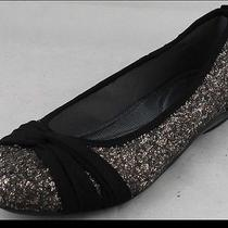 Dkny Sophie Antique Glitter Flats Sz. 9 Photo