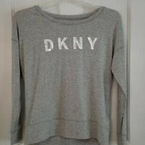 Dkny Sport Top Size Xs Gray With Sliver Logo Long Sleeve Super Soft Photo