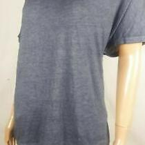 Dkny Sport Women Short-Sleeve Knit Top Blue v-Neck Knot Back Blouse Top Size M Photo