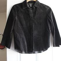 Dkny Suede Leather Jacket Small Photo
