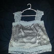 Dkny Tan Dress Top Size L Very Nice Satin and Lace  Photo