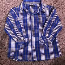 Dkny Toddler Baby Boy Shirt 18m Cotton Long Sleeve Button Down Blue/gray/white Photo