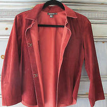 Dkny Wine Suede Shirt/jacket Size 10 Photo