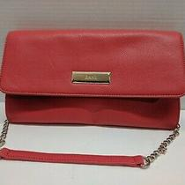 Dkny Women Red Leather Shoulder Bag Clutch Chain Strap Photo