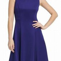 Dkny Women's Dress Indigo Blue Size 14 a-Line Swing Fit & Flare 119 183 Photo