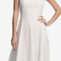 Dkny Women's Dress White Size 2 Sheath Handkerchief Square Illusion 139 132 Photo