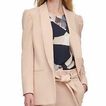 Dkny Women's Jacket Blush Pink Size 10 Puff Sleeve Shawl Collar 129 189 Photo