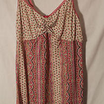 Dkny Women's Pink Patterned Nightie---Medium Photo