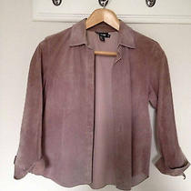 Dkny Women's Pink Suede Shirt Jacket Size 10 Photo