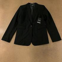 Dkny Women's Size 8 Black Single Button Blazer Nwt Photo