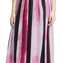 Dkny Women's Skirt Purple Size Medium M Pleated Midi Pull on Colorblock 99 181 Photo