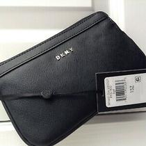 Dkny Women's Wristlet Wallet Solid Black 100% Pvc Bryant Item Wristlet R93l1800 Photo