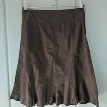 Dkny Womens 6 Small a-Line Skirt Brown Donna Karen New York Fit Flare Trumpet Photo