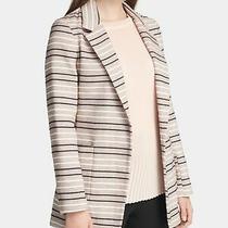 Dkny Womens Beige Striped Blazer Jacket Petites Size 8p Photo