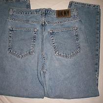 Dkny Womens Blue Jeans Size 14 Tape W 32 X L 30 Photo