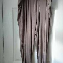 Dkny Womens Champagne Drawstring Lounge/pajama Pants Size Xl Photo