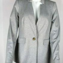 Dkny Womens Gray One Button Soft Knit Blazer Jacket Sz 8 - Nwt Photo