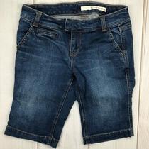 Dkny Womens Jean Shorts Blue Pockets Denim Medium Wash 4 Photo