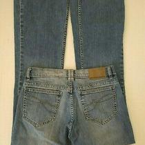 Dkny Womens Size 4 Greenwich Boot Cut Low Rise Cotton Blue Denim Jeans Kcmu4814  Photo