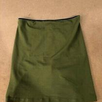 Dkny Womens Strapless Solid Print Cropped Tube Top Shirt Green Size S Photo