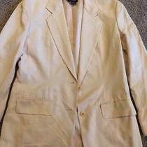 Dkny Womens Suit Blazer Nude Blush Silk/cotton Size 6 Photo