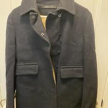 Dkny Wool/ Coat Dark Navy Size 8 Slightly Used Photo