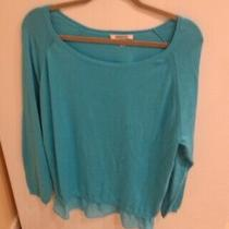 Dknyc Turquoise Cotton Blend Top Size Xxl Photo