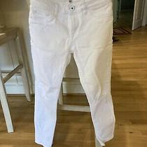 Dl 1961 Margaux Instasculpt Ankle Skinny Jeans Wilder Distressed White Sz. 25 Photo