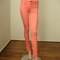 Dl1961 Amanda Skinny Jeans in Coral Pink Peach 25 168 6125b Bmq Photo